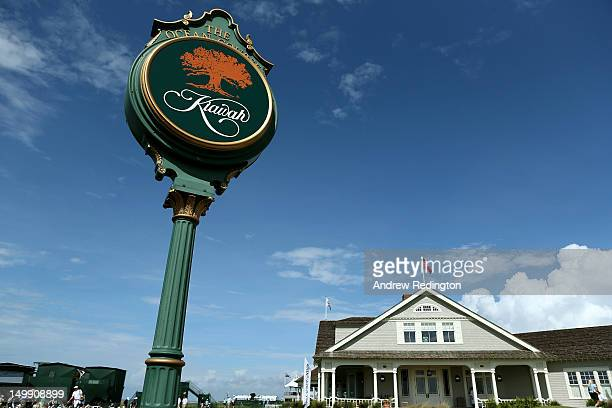 General view of the course during a practice round of the 2012 PGA Championship at the Ocean Course on August 6, 2012 in Kiawah Island, South...
