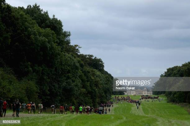 General view of the course during the 2017 Tough Mudder South West at Badminton Estate on August 20 2017 in Cirencester England