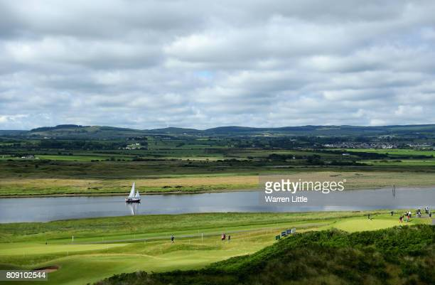 A general view of the course during the ProAm of the Dubai Duty Free Irish Open at Portstewart Golf Club on July 5 2017 in Londonderry Northern...