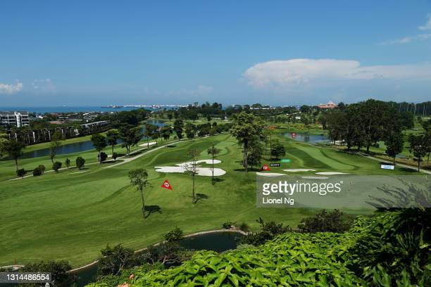 General view of the course prior to the HSBC Women's World Championship at Sentosa Golf Club on April 26, 2021 in Singapore.