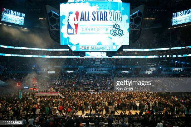 A general view of the court after the 2019 NBA AllStar Game on February 17 2019 at the Spectrum Center in Charlotte North Carolina NOTE TO USER User...