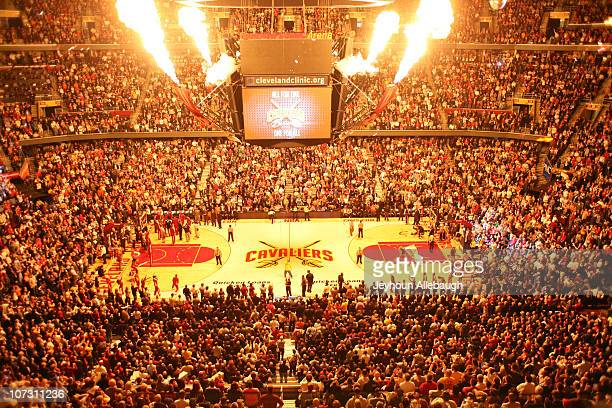A general view of the court before the game between the Miami Heat and the Cleveland Cavaliers on December 2 2010 at Quicken Loans Arena in Cleveland...