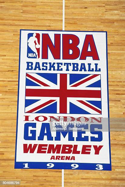 A general view of the court decal during the Atlanta Hawks versus Orlando Magci game on October 30 1993 in London England NOTE TO USER User expressly...