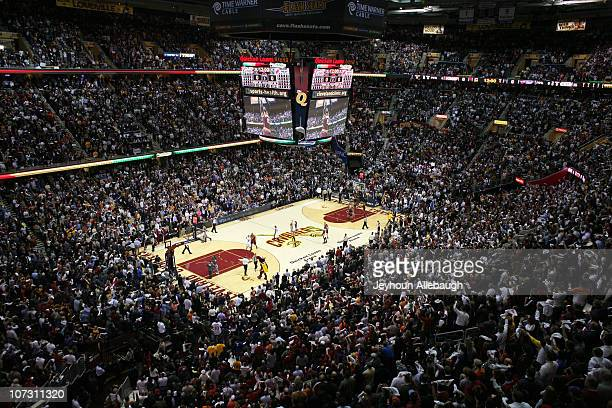 A general view of the court during the game between the Miami Heat and the Cleveland Cavaliers on December 2 2010 at Quicken Loans Arena in Cleveland...