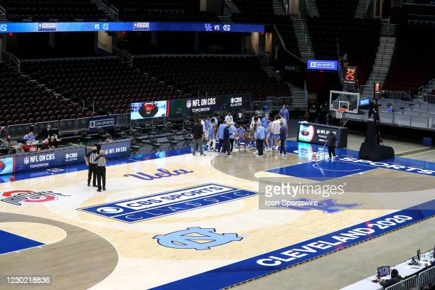 General view of the court during the second half of the mens college basketball game between the Kentucky Wildcats and North Carolina Tar Heels on...