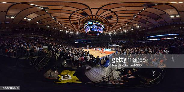 A general view of the court during the The New York Knicks vs Chicago Bulls game at Madison Square Garden on December 11 2013 in New York City