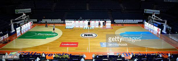 A general view of the court is seen before the start of the round 18 NBL match between the Cairns Taipans and the Perth Wildcats at the Cairns...