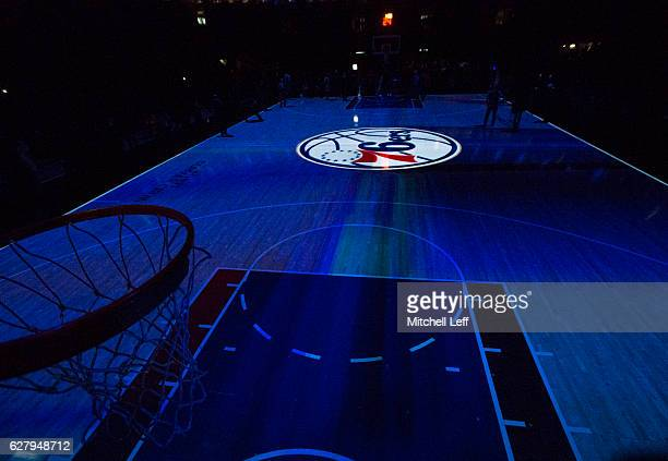 A general view of the court prior to the game between the Orlando Magic and Philadelphia 76ers at Wells Fargo Center on December 2 2016 in...