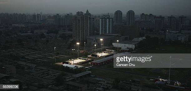 A general view of the courts at the Beijing Tennis Center during the China Open on September 14 2005 in Beijing China