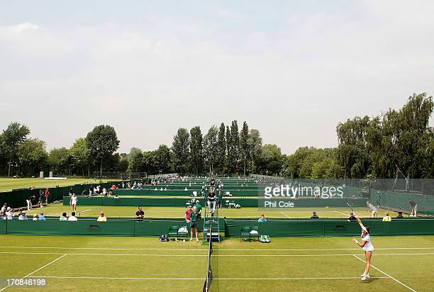 General view of the Courts during a Wimbledon 2013 qualifying session at the Bank of England Ground in Roehampton on June 19, 2013 in London, England.