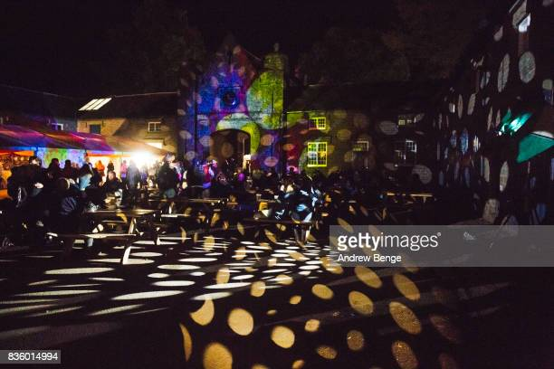 General view of the Courtyard during day 4 at Green Man Festival at Brecon Beacons on August 20 2017 in Brecon Wales