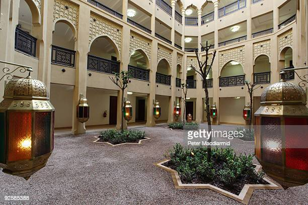 A general view of the courtyard during the grand opening of the Mazagan Beach Resort on October 31 2009 in El Jadida Morocco Kerzner International...