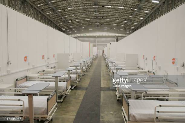 General view of the COVID-19 field hospital in the Cape Town International Convention Centre which has 862 beds and all the necessary accompanying...