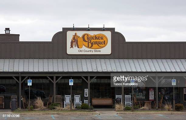 A general view of the Cracker Barrel where a gunman went on a shooting rampage on February 21 2016 in Kalamazoo Michigan Authorities said that a...