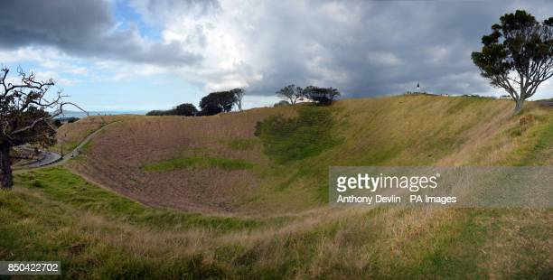 General view of the crater at the centre of Mount Eden Auckland