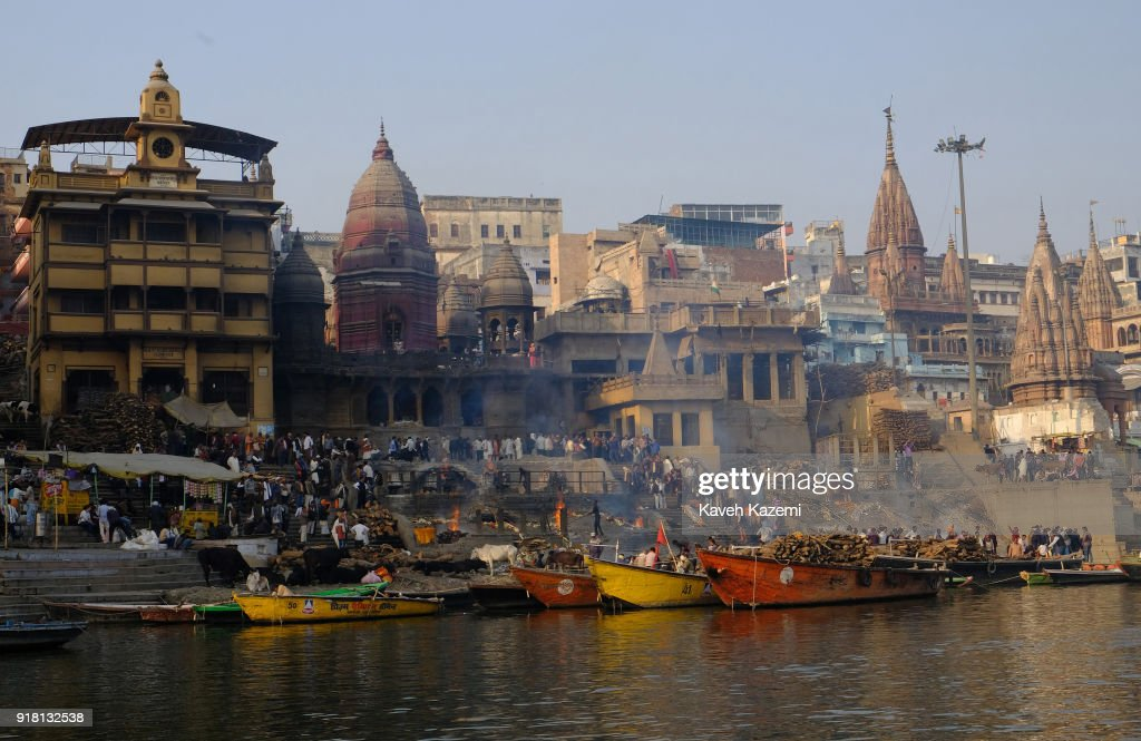 Cremation Ceremony in Varanasi : News Photo