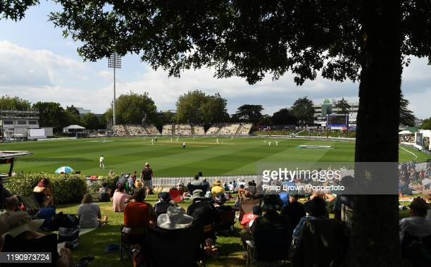 General view of the cricket during day 2 of the second Test match between New Zealand and England at Seddon Park on November 30, 2019 in Hamilton,...