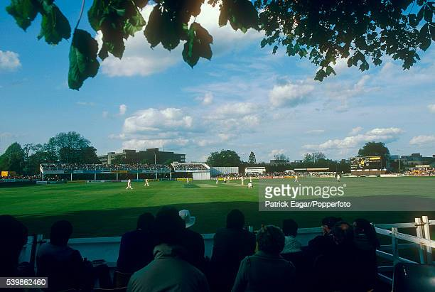 General view of the cricket ground at Chelmsford Essex circa April 1983