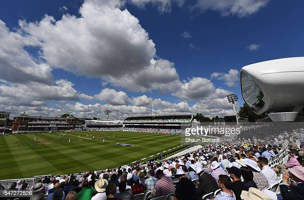 A general view of the cricket ground during day one of the 1st Investec Test match between England and Pakistan at Lord's Cricket Ground on July 14...
