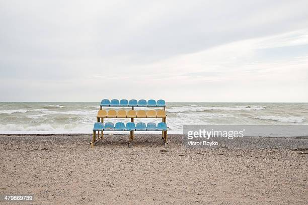 A general view of the Crimean beach near the town of Yevpatoria on March 21 2014 in Yevpatoria Crimea Ukraine