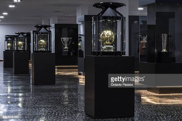 A general view of the Cristiano Ronaldo CR7 Museum including four Balon D'or statues on December 29 2016 in Funchal Madeira Portugal The museum is...