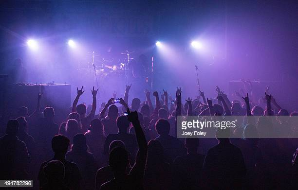 A general view of the crowd as the band ICE NINE KILLS performs at The Emerson Theater on October 28 2015 in Indianapolis Indiana
