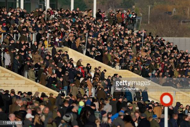 General view of the crowd at Cheltenham Racecourse on December 14, 2019 in Cheltenham, England.
