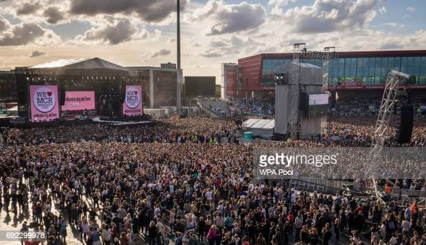 A general view of the crowd at the 'One Love Manchester' benefit concert on June 4 2017 in Manchester England