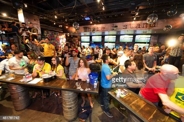 A general view of the crowd at the UFC Brazilian party during UFC International Fight Week inside the Rockhouse at The Venetian Las Vegas on July 3...