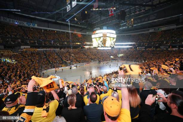 A general view of the crowd before the start of the first period in Game Two of the 2017 NHL Stanley Cup Final between the Pittsburgh Penguins and...