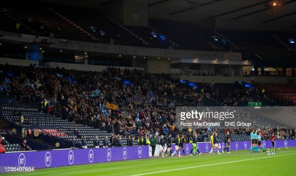 General view of the crowd during a FIFA World Cup Qualifier between Scotland and Faroe Islands at Hampden Park on September 21 in Glasgow, Scotland.
