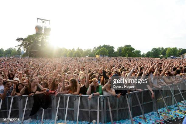 A general view of the crowd during day 1 of BBC Radio 1's Biggest Weekend 2018 held at Singleton Park on May 26 2018 in Swansea Wales