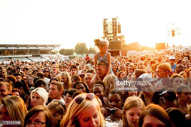 General view of The crowd during day 3 of The Barclaycard presents British Summer Time A Day At The Park at Hyde Park at Hyde Park on July 7 2013 in...