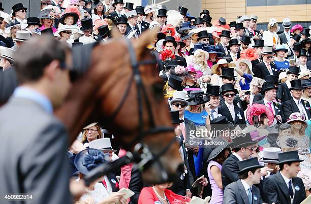 General view of the crowd during day four of Royal Ascot 2014 at Ascot Racecourse on June 20, 2014 in Ascot, England.