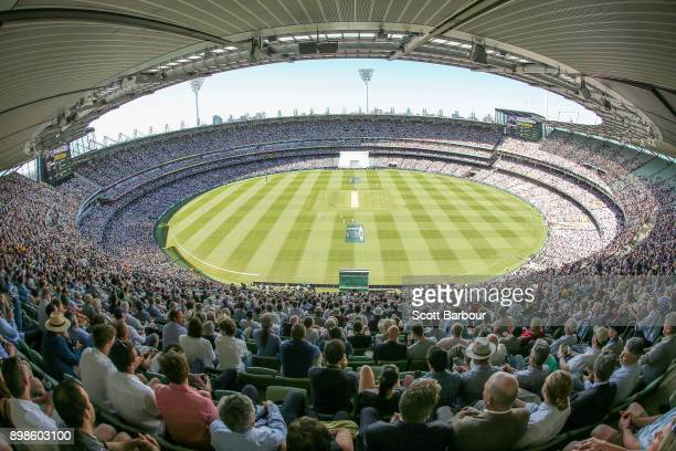 A general view of the crowd during day one of the Fourth Test Match in the 2017/18 Ashes series between Australia and England at Melbourne Cricket...
