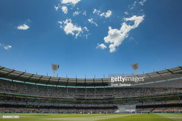 A general view of the crowd during day two of the Fourth Test Match in the 2017/18 Ashes series between Australia and England at Melbourne Cricket...