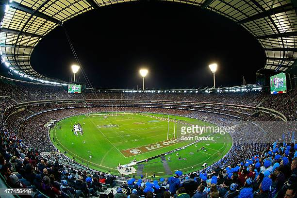 A general view of the crowd during game two of the State of Origin series between the New South Wales Blues and the Queensland Maroons at the...