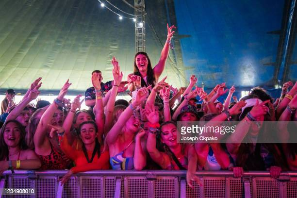 General view of the crowd during Reading Festival 2021 at Richfield Avenue on August 27, 2021 in Reading, England.