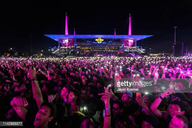 General view of the crowd during Rolling Loud at Hard Rock Stadium on May 10 2019 in Fort Lauderdale Florida