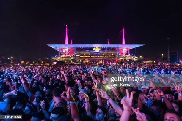 General view of the crowd during Rolling Loud at Hard Rock Stadium on May 10 2019 in Miami Gardens Florida