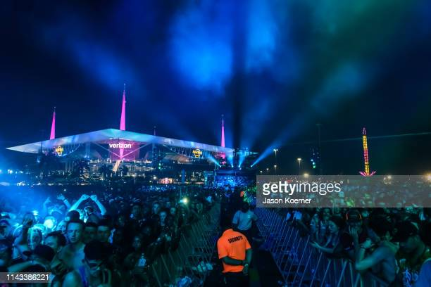 General view of the crowd during Rolling Loud at Hard Rock Stadium on May 12 2019 in Miami Gardens FL