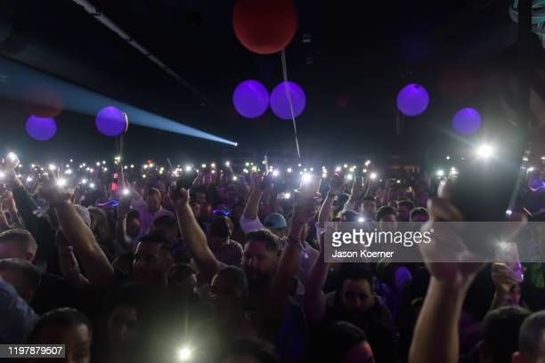 General view of the crowd during Shaq's Fun House at Mana Wynwood Convention Center on January 31 2020 in Miami Florida