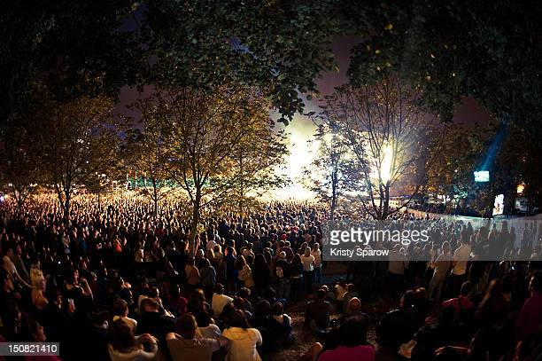 A general view of the crowd during the 10th annual Rock En Seine Festival at the Domaine National de SaintCloud park on August 26 2012 in Paris France