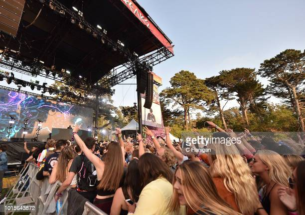 A general view of the crowd during the 2018 Outside Lands Music and Arts Festival at Golden Gate Park on August 11 2018 in San Francisco California