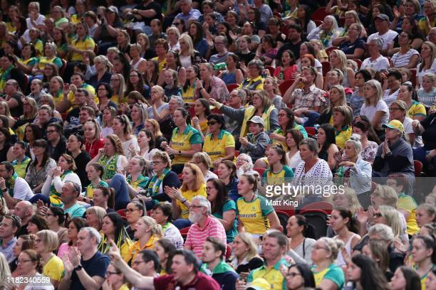General view of the crowd during the 2019 Constellation Cup match between the Australian Diamonds and the New Zealand Silver Ferns at Qudos Bank...