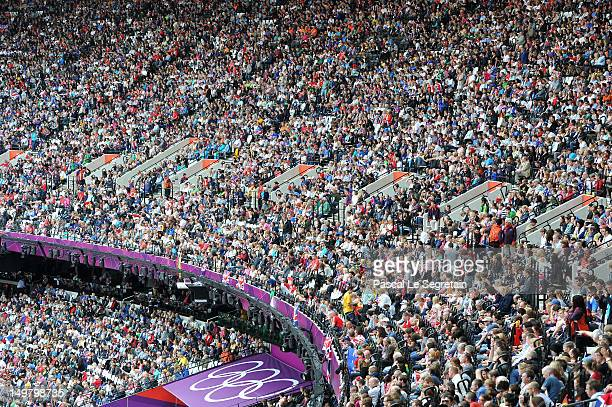 A general view of the crowd during the atheltics on Day 8 of the London 2012 Olympic Games at Olympic Stadium on August 4 2012 in London England