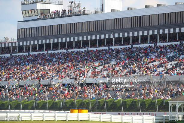 A general view of the crowd during the IndyCar Series ABC Supply 500 on August 18 2019 at Pocono Raceway in Long Pond Pa