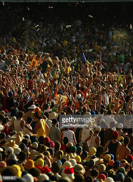 A general view of the crowd during the One Day International match between Australia and England held at the Melbourne Cricket Ground in Melbourne...