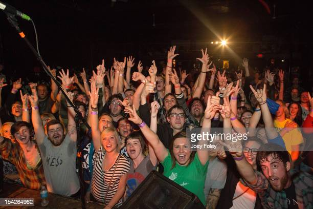 A general view of the crowd from the stage as the band The Early November performs at The Emerson Theater on October 16 2012 in Indianapolis Indiana