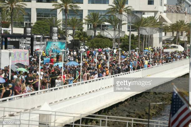 General view of the crowd near the #IMDboat at San Diego Comic-Con 2017 at The IMDb Yacht on July 22, 2017 in San Diego, California.